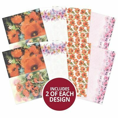 Hunkydory Poppy Wishes Printed Parchment  A4, 135gsm, 8pk