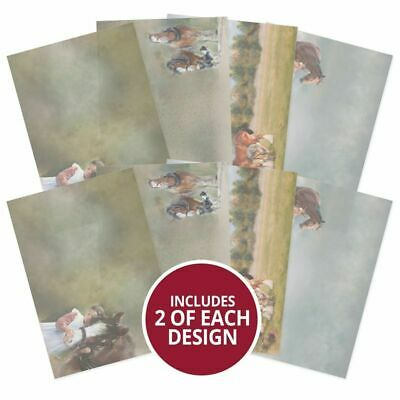 Hunkydory Horse & Country Printed Parchment Collection  A4, 135gsm, 8pk