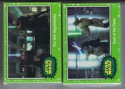 2019 Journey To Star Wars The Rise Of Skywalker Green Parallel Set 110 Cards