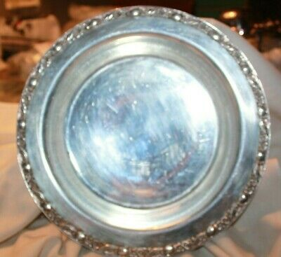 """VINTAGE W. ROGERS Bros  SILVER PLATED Victorian Rose BOWL footed 11.25"""""""