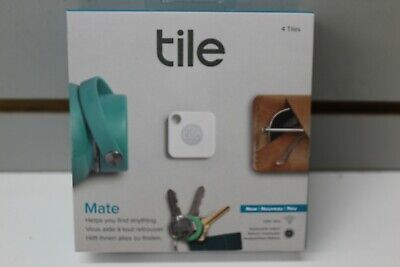 NEW Tile RT-13004 Mate and Slim Combo Item Tracker - White/Gray - Pack of 4