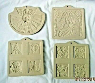 Brown Bag Cookie Art Craft Molds Angel W/Horn & Trumpet, Angel & Xmas Gift Tags