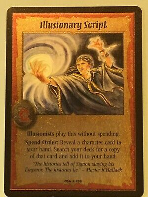 Warlord: Saga of the Storm CCG Illusionary Script FOIL Dominance