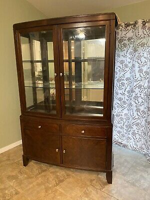 Wood china cabinet mint condition barely used