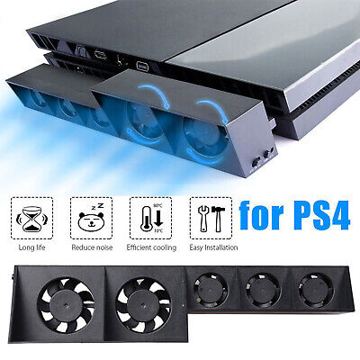 Smart Turbo Temperature Control USB Cooling Cooler 5 Fan for Playstation 4 PS4