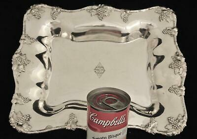 Victorian Barbour Silver Plate Grape Vines Centerpiece Serving Tray