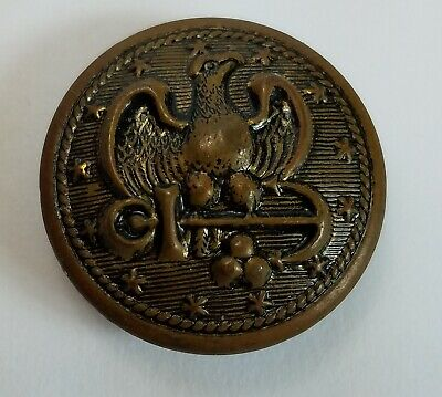 """Vintage Military Eagle Coat of Arms Metal Button 7/8"""""""