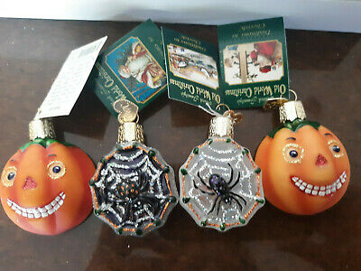 12 pc. LOT HALLOWEEN ORNAMENTS,INSIDE ART,OWC,WITCH,GHOST,PUMPKIN,SPIDER,MY-B