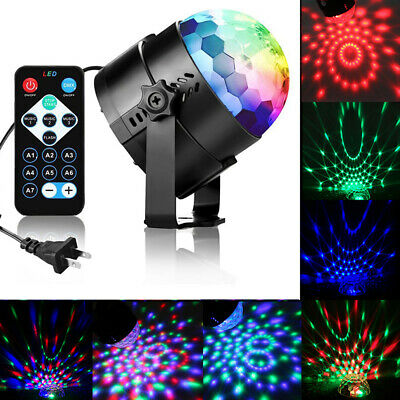 Dj Party Disco Lights Strobe LED Rotating Ball Sound Activated Dance Bulb Lamp