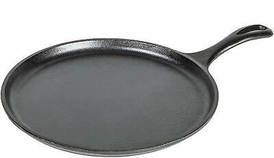 Lodge 10.5 Inch Cast Iron Griddle. Pre-seasoned Round Cast Iron Pan Perfect