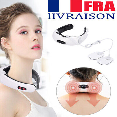 Pro Electric Cervical Neck Massager Body Shoulder Relax Massage Relieve Pain FR