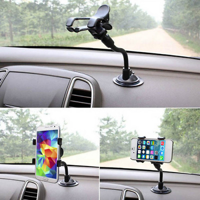 Car Smart Phone Holder Long Arm Windshield Mount Bracket Stand with Suction Cup