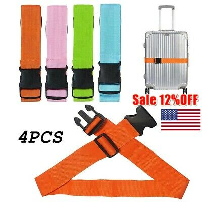 4X Baggage Strap Adjustable Suitcase With Buckle Belt Travel Bag With Seat Belt