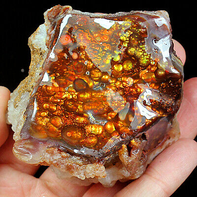 779.35Ct 100% Natural Mexican Multi-Colored Fire Agate Facet Rough YFMG6