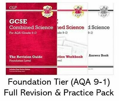 AQA Combined Science GCSE 9-1 FOUNDATION CGP Full Revision & Exam Practice Pack