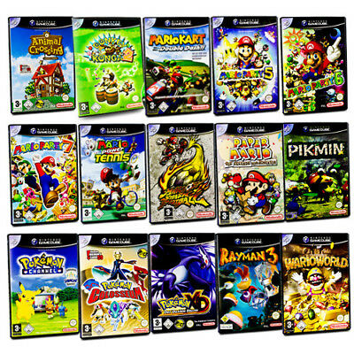 Gamecube Game Mario Kart Party Smash Football Sunshine Pokemon Super Smash Bros