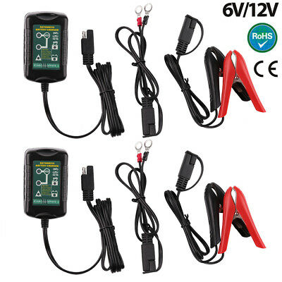 2pc Smart Battery Charger 12V/6V Automatic SLA Motorbike Car Boat Deep Cycle AGM