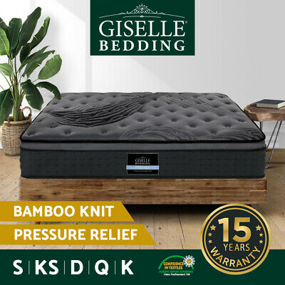 Giselle Bed Mattress Queen Double King Single Pocket Spring Foam Bamboo Charcoal