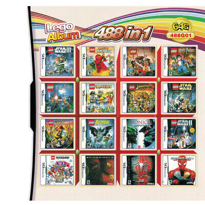 488 in 1 NDS Games Cartridge for NDS NDSL NDSi 3DS 2DS Lego