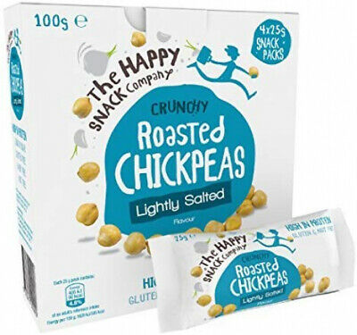 The Happy Snack Company Roasted Chickpeas, Lightly Salted Flavour Healthy...