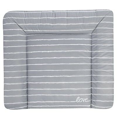 Julius Zöllner Wickelauflage Softy 75 x 85 Grey Stripes NEU