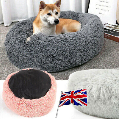 Soft Warm Shag Faux Fur Donut Cuddler Pet Bed Dog Beds for Medium Small Dogs Cat