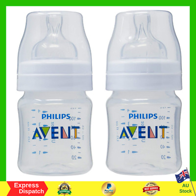 Philips AVENT Classic+ PP Bottle 125ml (2 Pack) Anti Colic BPA FREE Easy Clean