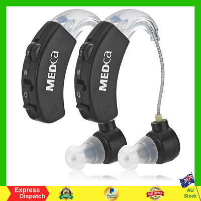 Digital Hearing Aids Behind The Ear BTE Hearing Ear Amplification Device NEW AU