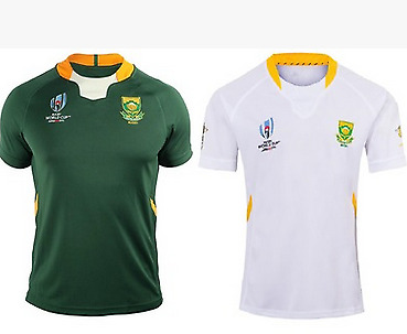NEW 2019-2020 South Africa Home Rugby Jersey short sleeves Man Tshirt S-3XL