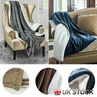 Bedsure Sherpa Blanket Fleece Throw Reversible Blanket for Bed and Couch UK