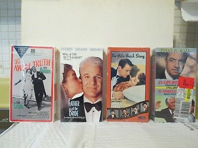 4 NEW/SEALED Videos (The Palm Beach Story, The Awful Truth, Father of the Bride)