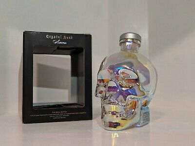 Empty Crystal Head Vodka Skull Aurora Borealis 750Ml Bottle Halloween