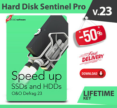 O&O Defrag 23 Pro ✔️ HDD SSD Hard Disk Optimizer ✔️ Digital Download ✔️ 5 PC's✔️