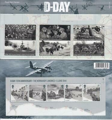 GB 2019 D DAY PRESENTATION PACK No 572 MINT STAMP SET SG 4230 4235 + MS 4236