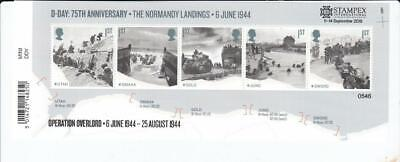 Gb 2019 D Day Stampex Overprint Normandy Landings Miniature Sheet Set Ms 4236