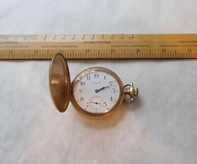 GENTLEMANS ANTIQUE WALTHAM  A.W.W.Co.MASS. HUNTER CASED POCKET WATCH. WORKS