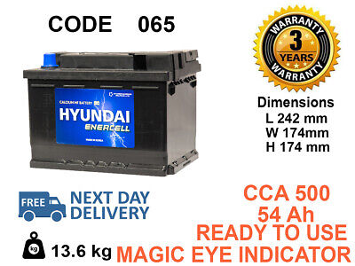 065 Car Battery 3Years Warranty 55Ah 500cca 12V Genuine OEM .FITS ALL CAR BRANDS