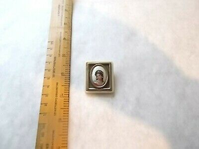 Vintage Painted On Oval Porcelain Miniature Brooch. Pretty.  Probably European