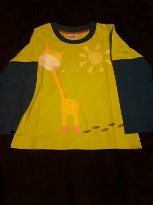 Long Sleeve Top - Chad Valley - Argos - Age 4-5 - Giraffe - Blue & Green