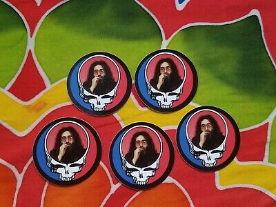 5 Steal your Face Jerry Stickers. Grateful Dead. Syf.