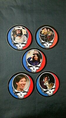 5 Grateful Dead Steal Your Face Stickers.