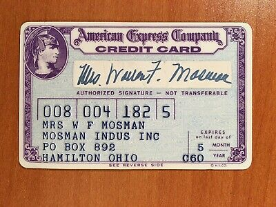 1960 Purple Era Vintage American Express Card