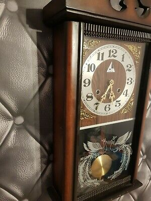 Lovely Wall Clock In Perfect Working Order 31 Day Strike Approx 2ft High And 1ft