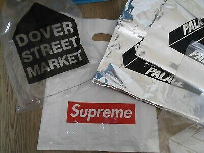 Lot Of 3 X Palace 1 X Supreme & 1 X Dover Street Market Carrier Bags