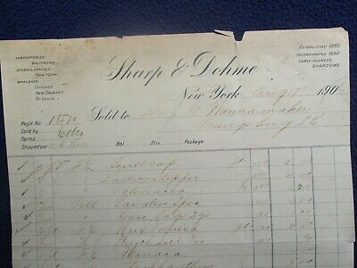 1906 HUGE Morphine PRICES,Druggist,(113 year old) Dr. Wannamaker S.C.,Letterhead