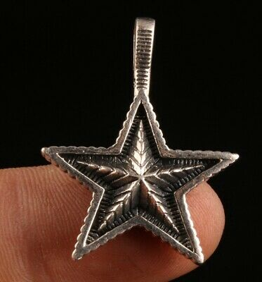 925 Silver Genuine Silver Solid Silver Pendant Statue Star Feather Mascot