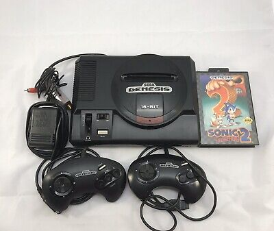 Sega Genesis  Model 1 Console System(1601) W/ 2 Controllers And Sonic2 And Cords