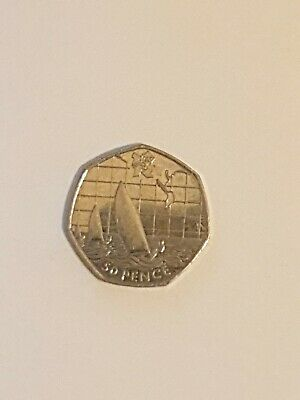 Olympic 50p. London 2012. SAILING. Fifty pence. Circulated.