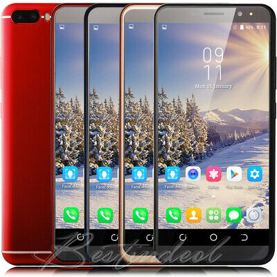 Android 8.1 Luxury 6 Inch Cell Phone 3G GSM Unlocked Smartphone Quad Core 2SIM