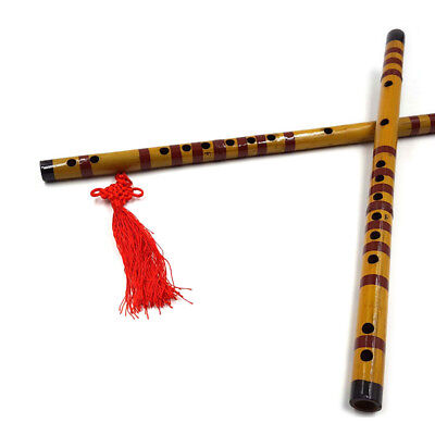 Traditional Long Bamboo Flute Clarinet Students Musical Instrument 7 Hole  TPI